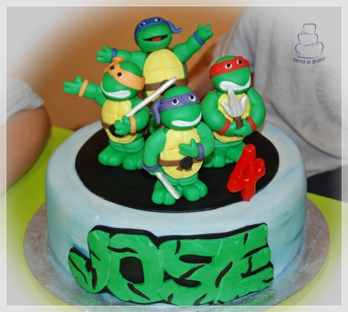 Tarta tortugas ninja
